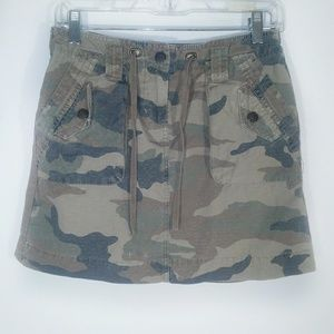 J. Crew | skirt zip button tie waist pockets 2